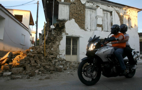 Image: Greek quake
