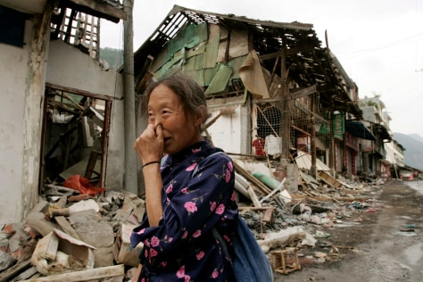 Image: Quake disaster refugee