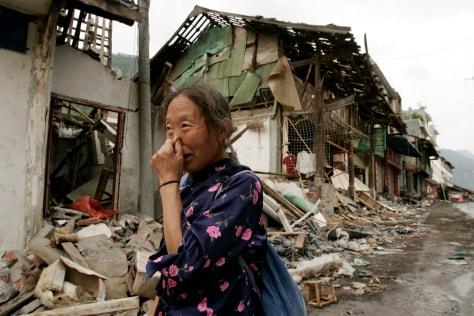 Image: Quake disaster refugee