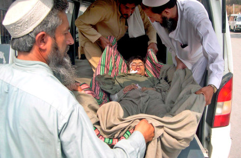 Image: Man injured in Pakistan attack