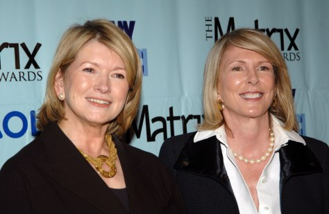 Image: Martha Stewart and Susan Lyne