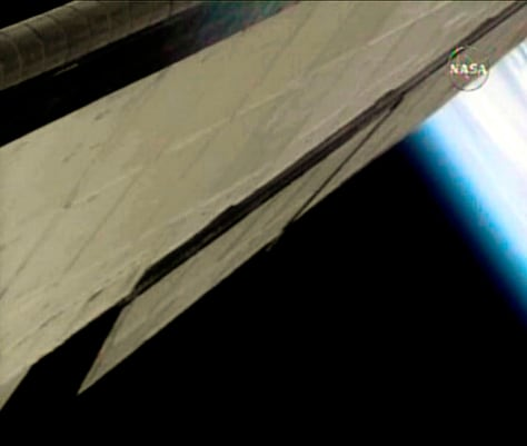 Image: The vertical stabilizer on the shuttle Discovery
