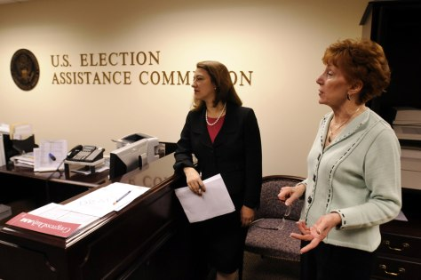 Image: U.S Election Assistance Commissioners Caroline Hunter, Donetta Davidson