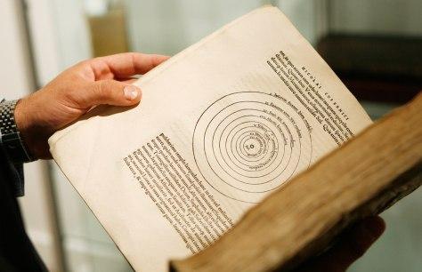 "Image: A rare first edition of Nicolaus Copernicus' ""De revolutionibus"""