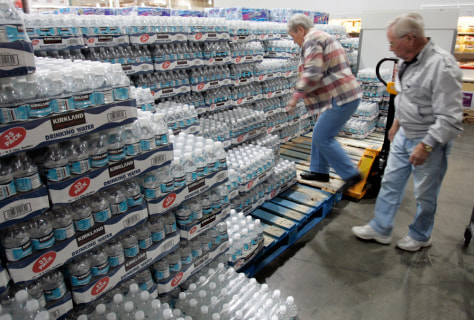 Image: Bottled water at Costco