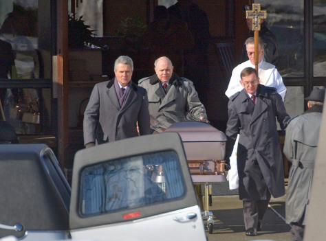 Image: Funeral for Lauren Crossan in 2004