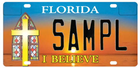 Image: 'I Believe' license plate
