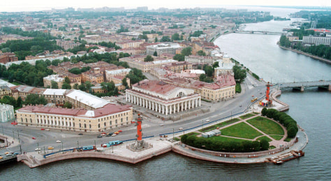 Image: An aerial view of downtown St. Petersburg