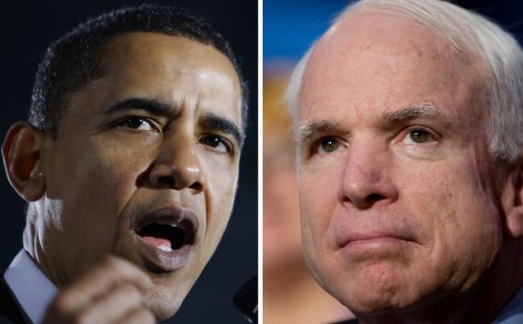Image: Barack Obama and John McCain