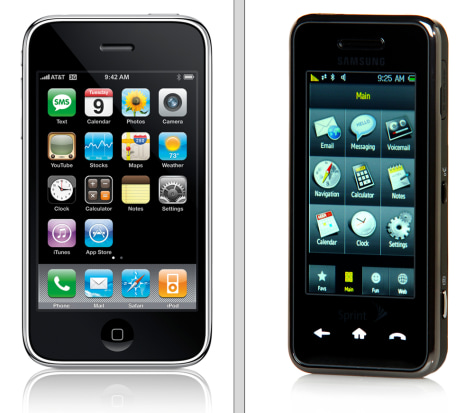 Image: Apple iPhone 3G; Samsung Instinct