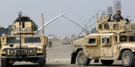 Image: Humvees in Iraq