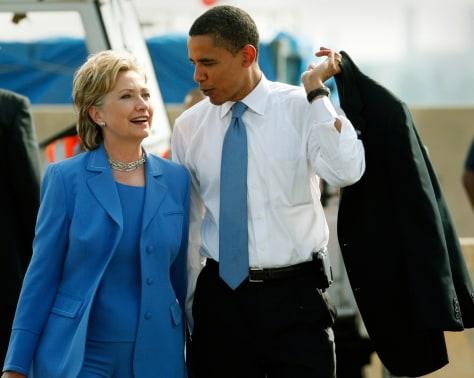 Image: Hillary Clinton and Barack Obama