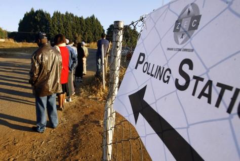 Image: Waiting to vote in Zimbabwe