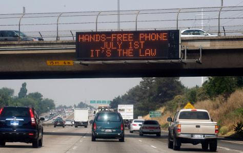 Image: Hand-held phone ban