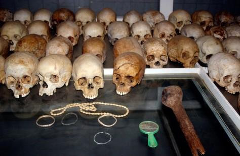 Image: Victims' skulls