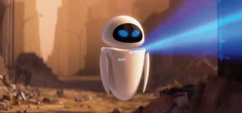 "EVE, otherwise known as the Extra-terrestrial Vegetation Evaluator, represents an intelligent probe sent to an abandoned Earth in the film ""WALL-E."" Credit: Pixar/Disney"