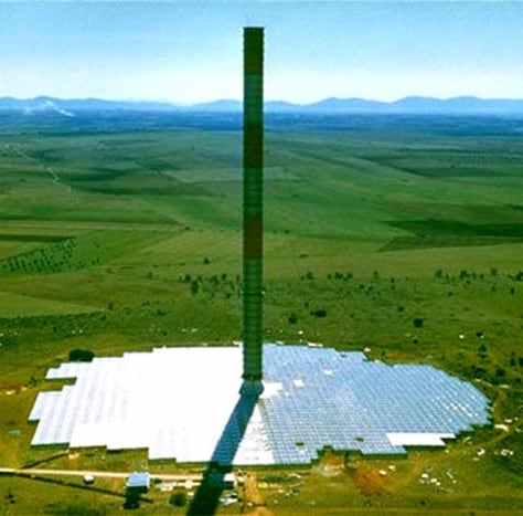Image: solar tower prototype
