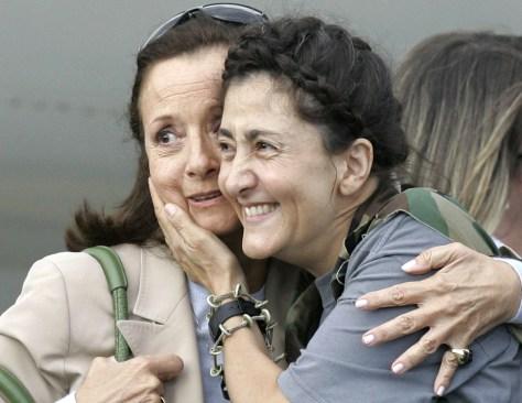 Image: Ingrid Betancourt, Yolanda Pulecio