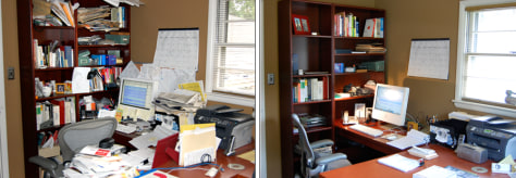 Image: Office mess, before and after