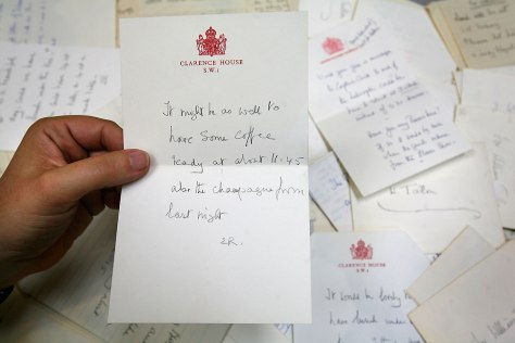 IMAGE: Note from the queen mother