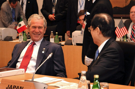Image: President Bush and Japanese Prime Minister Yasuo Fukuda at G8 summit