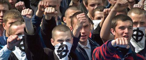 Image: Ukrainian skinheads