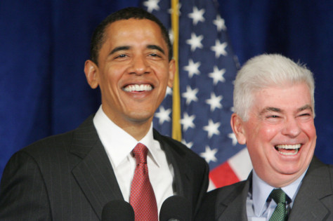 Image : Barack Obama and Christopher Dodd