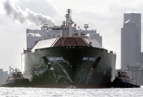 TANKER CARRYING LIQUEFIED NATURAL GAS