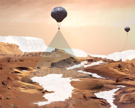 mars landing with balloons - photo #4