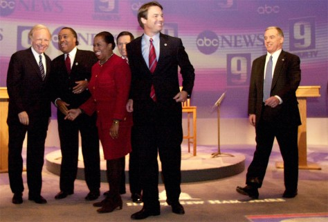 Image: Democratic presidential candidates