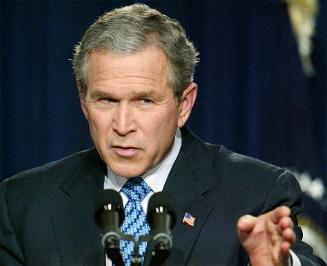 IMAGE: President Bush at news conference
