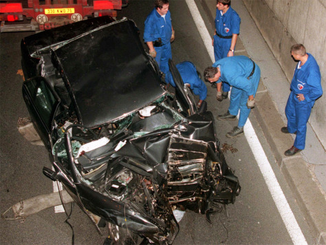 Image: Crash in which Princess Diana died