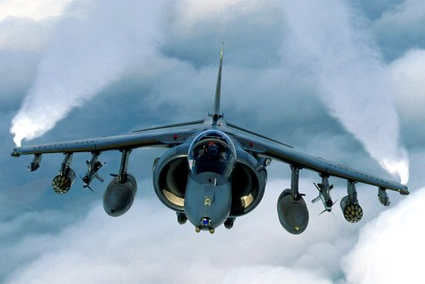 FILE PHOTO OF A RAF HARRIER