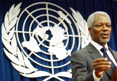 Image: U.N. Secretary General Kofi Annan