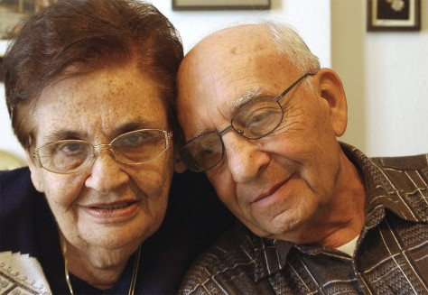 IMAGE: REUNITED HOLOCAUST SURVIVORS