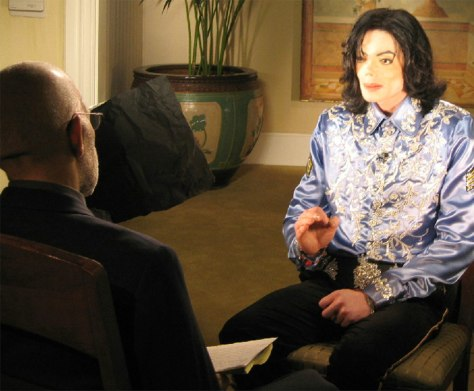 ENTERTAINER MICHAEL JACKSON IS INTERVIEWED ON 60 MINUTES NEWS PROGRAM