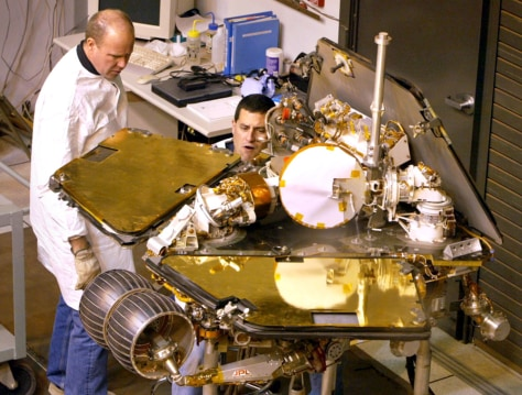 Image: Work on rover model