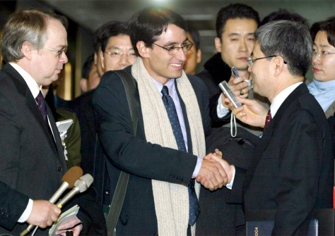 IMAGE: AMERICANS LUSE, JANNUZI MEET S. KOREAN OFFICIAL PARK