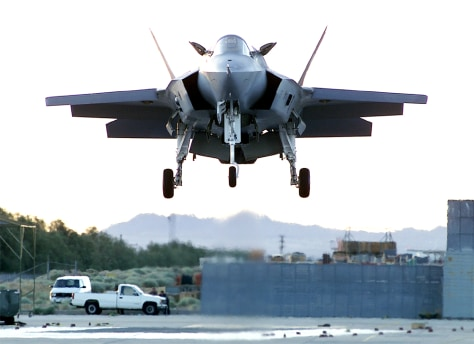 LOCKHEED FIGHTER PROTOTYPE FOR JOINT STRIKE FIGHTER CONTRACT