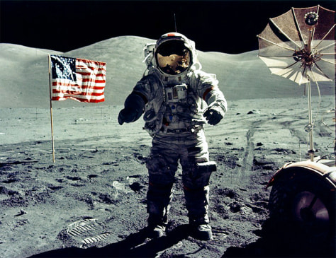 Image: Cernan on moon
