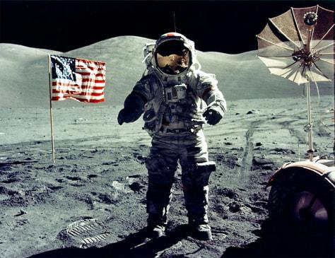 Image: Cernan on moon