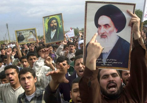 Basra protest