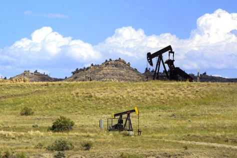 Image: Oil wells in Wyoming