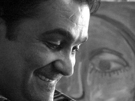 Artist Wisam Rady in his studio