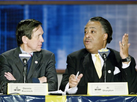 FILE PHOTO: SHARPTON KUCINICH