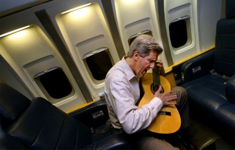 John Kerry Plays His Guitar
