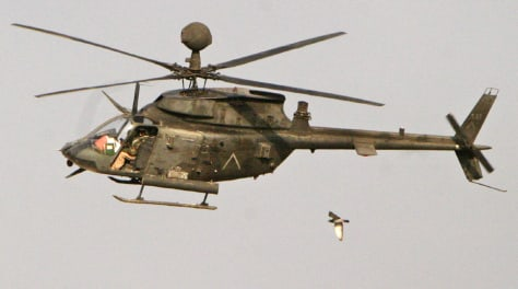 FILE PHOTO OF US ARMY KIOWA RECONNAISSANCE HELICOPTER