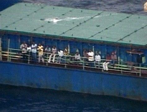 HAITIANS ABOARD SHIP