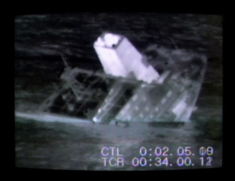 IMAGE FROM VIDEO: TANKER SINKING
