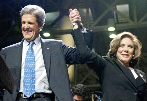 JOHN KERRY CELEBRATES SUPER TUESDAY ELECTION WINS WITH WIFE TERESA